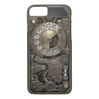 Teléfono de dial rotatorio del metal de Steampunk. Funda iPhone 7