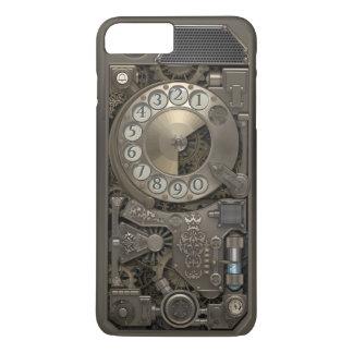 Teléfono de dial rotatorio del metal de Steampunk Funda iPhone 7 Plus