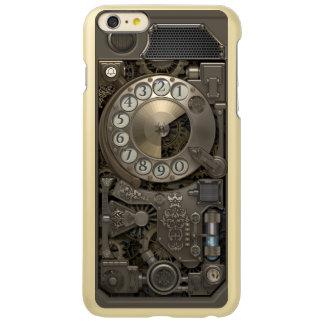 Teléfono de dial rotatorio del metal de Steampunk