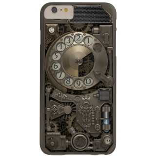 Teléfono de dial rotatorio del metal de Steampunk Funda Para iPhone 6 Plus Barely There