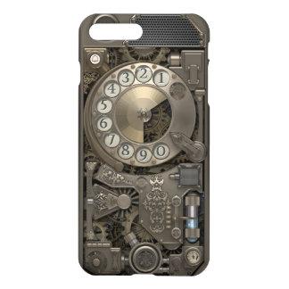 Teléfono de dial rotatorio del metal de Steampunk Funda Para iPhone 7 Plus