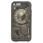 Teléfono de dial rotatorio del metal de Steampunk. Funda Resistente iPhone 6
