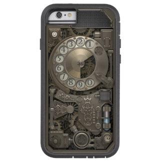 Teléfono de dial rotatorio del metal de Steampunk. Funda Tough Xtreme iPhone 6