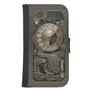 Teléfono de dial rotatorio del metal de Steampunk Fundas Cartera Para Teléfono