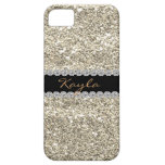 TELÉFONO de encargo 5 de Bling I del BRILLO del OR iPhone 5 Case-Mate Protectores