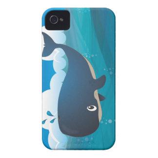Teléfono de la ballena funda para iPhone 4 de Case-Mate