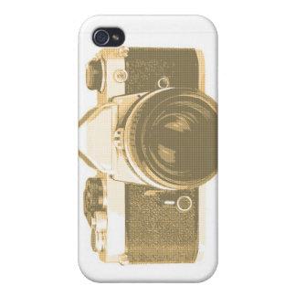 Teléfono de la cámara de la escuela vieja iPhone 4 protectores