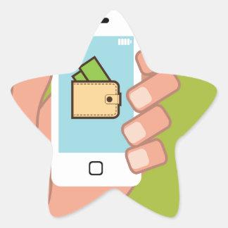 Teléfono de la cartera disponible pegatina en forma de estrella