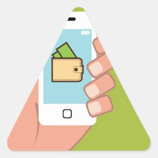 Teléfono de la cartera disponible pegatina triangular