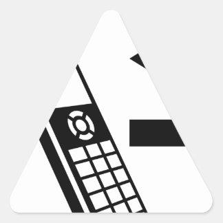 Teléfono de la casa de llamadas salientes de las pegatina triangular