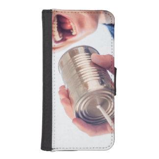 Teléfono de la lata fundas cartera para teléfono