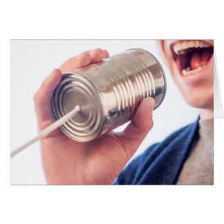 Teléfono de la lata tarjeton