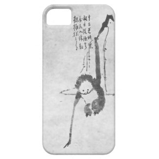 Teléfono de la meditación del zen del mono iPhone 5 carcasa