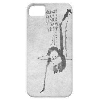 Teléfono de la meditación del zen del mono funda para iPhone SE/5/5s