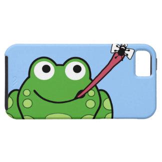Teléfono de la rana y de la mosca iPhone 5 cárcasa