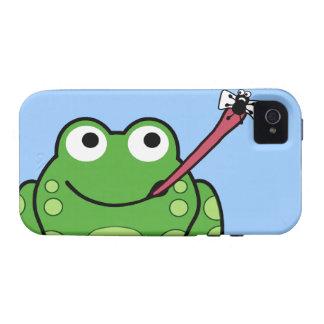 Teléfono de la rana y de la mosca iPhone 4/4S fundas