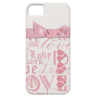 Teléfono de las letras de amor del monograma iPhone 5 carcasa