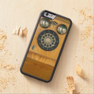 Teléfono de madera antiguo de la pared funda de iPhone 6 bumper arce