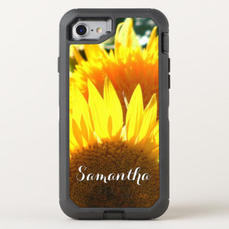 Teléfono de Otterbox de la floración del girasol Funda OtterBox Defender Para iPhone 7