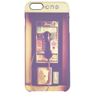 Teléfono de pago público de los E.E.U.U. del Funda Clear Para iPhone 6 Plus