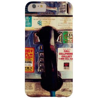 Teléfono de pago público divertido retro de los funda barely there iPhone 6 plus