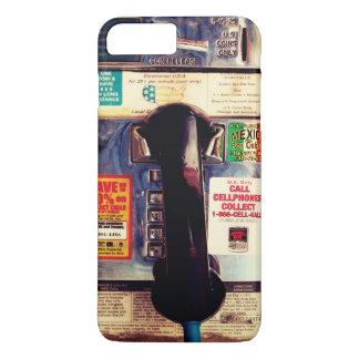 Teléfono de pago público divertido retro de los funda iPhone 7 plus
