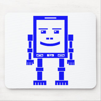 Teléfono de Robo - azul en blanco Tapetes De Raton