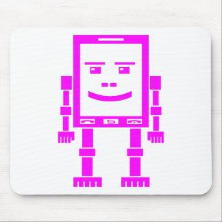 Teléfono de Robo - magenta en blanco Tapetes De Raton