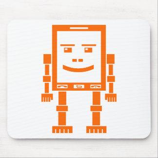 Teléfono de Robo - naranja en blanco Tapetes De Ratones