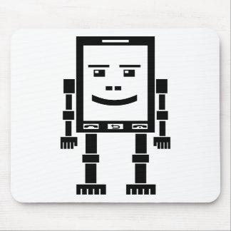 Teléfono de Robo - negro en blanco Alfombrilla De Ratones