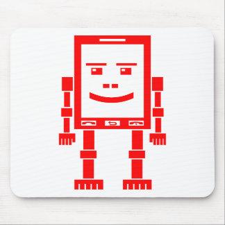 Teléfono de Robo - rojo en blanco Alfombrilla De Ratón