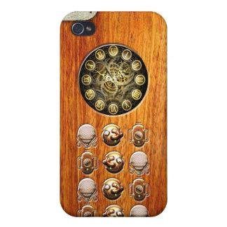 Teléfono de Steampunk del vintage iPhone 4/4S Funda