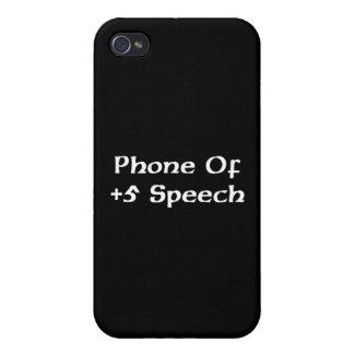 teléfono del caso del iPhone 4 de +Discurso 5 iPhone 4 Cárcasas