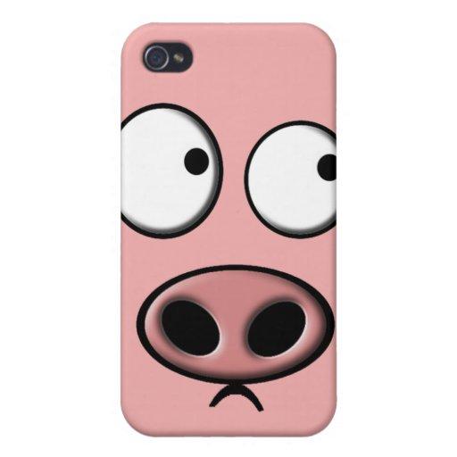 Teléfono del cerdo iPhone 4 cárcasa