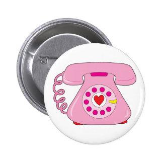 Teléfono del corazón pin