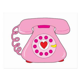Teléfono del corazón postales