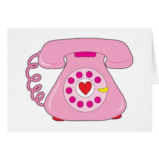 Teléfono del corazón tarjeta de felicitación