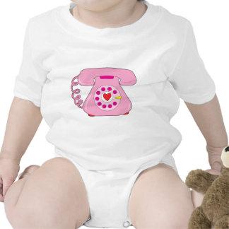 Teléfono del corazón trajes de bebé