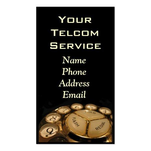 Teléfono del dial rotatorio del vintage tarjetas de visita