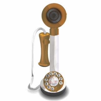 Teléfono del dial rotatorio escultura fotográfica