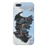 Teléfono del invierno de Terrier del escocés iPhone 5 Fundas