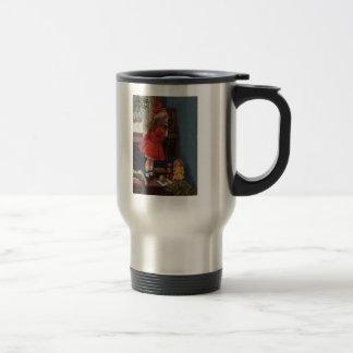 Teléfono del navidad taza de café