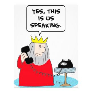 teléfono del rey sí nosotros que hablan flyer personalizado