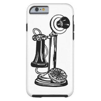 Teléfono del siglo XIX en el iPhone 6 Funda Resistente iPhone 6