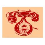 Teléfono del vintage postal