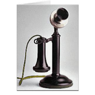 Teléfono del vintage tarjeta de felicitación