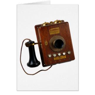 Teléfono del vintage, tarjeta de felicitación