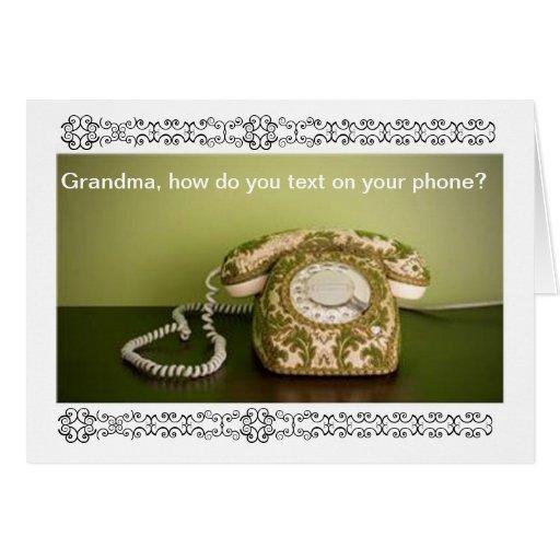 Teléfono del vintage - Texting Tarjetas