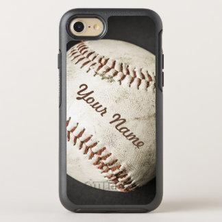 Teléfono deportivo del béisbol del vintage con su funda OtterBox symmetry para iPhone 7
