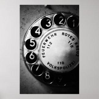 Teléfono dial póster